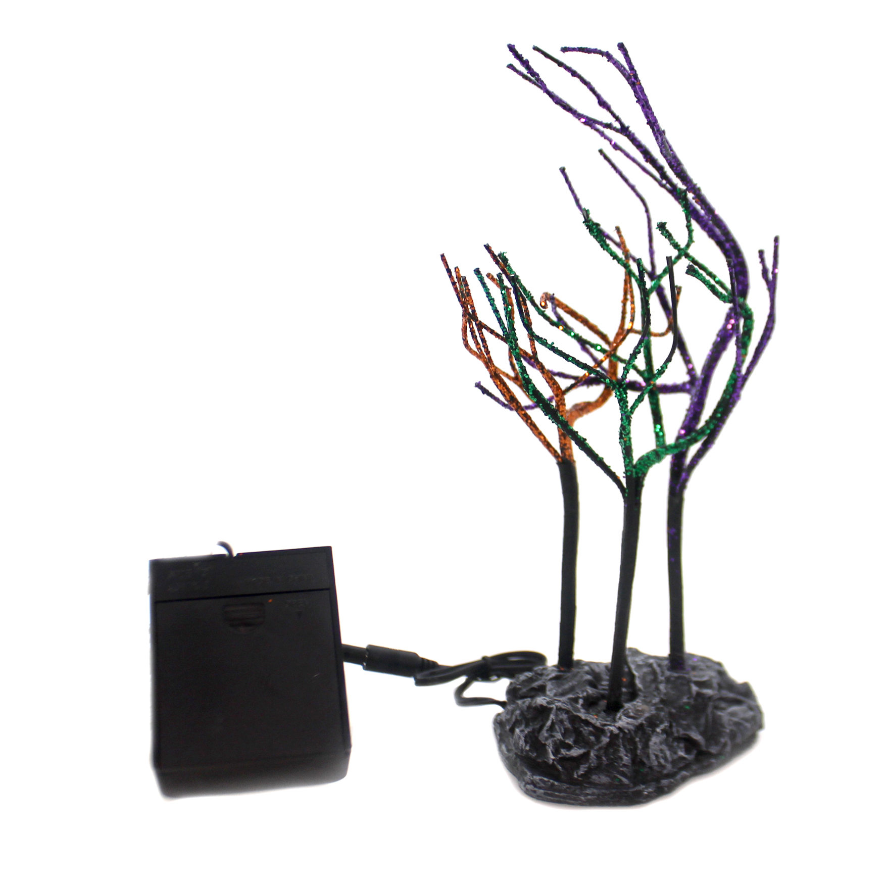 Department 56 Accessory LIT SPOOKY SPARKLE TREES Halloween Village 6001755