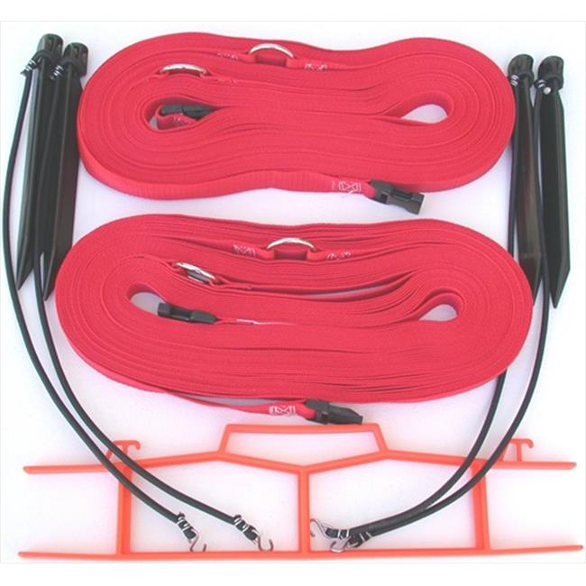 Home Court M817NARS 8 Meter Red 1-inch Non-adjustable Web Courtlines