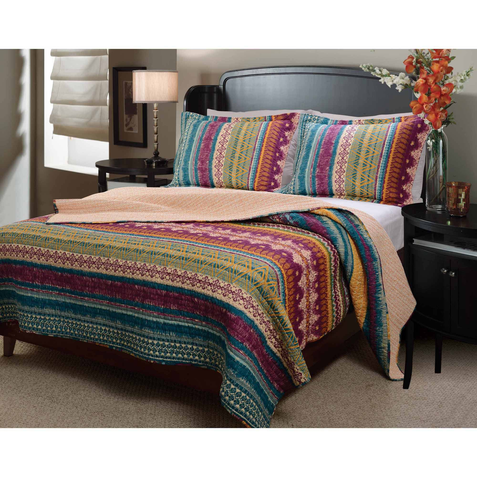 bed sets walmart global trends santa fe bedding quilt set walmart 10262