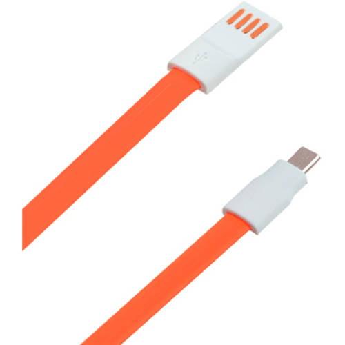 MyBat Orange Noodle microUSB Data Cable 1.2m