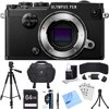 Olympus PEN-F 20MP Mirrorless Micro Four Thirds Digital Camera (Black) Accessory Bundle