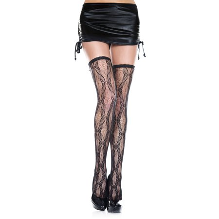Butterfly lace thigh hi -