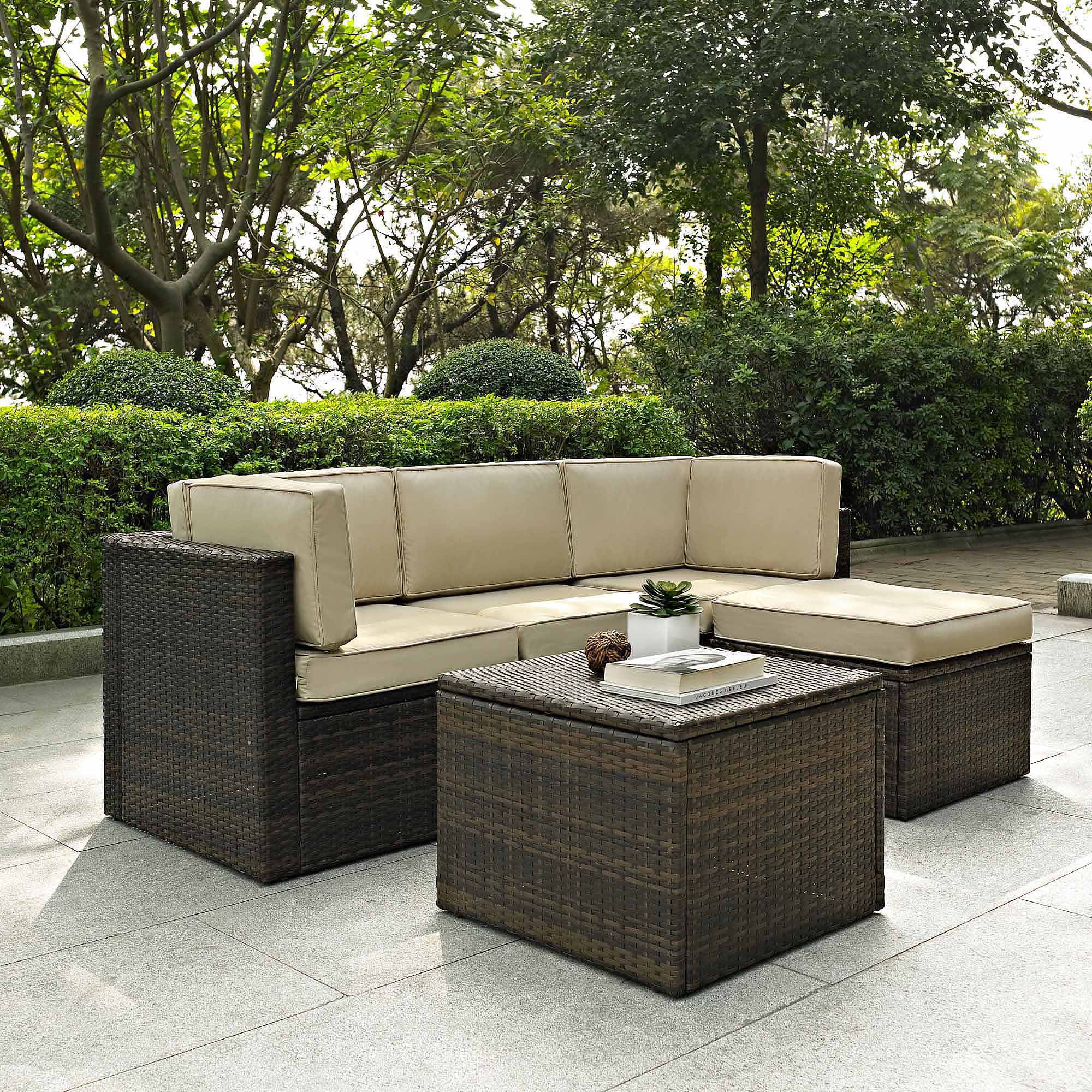 Crosley Furniture Palm Harbor 5 Piece Outdoor Wicker Seating Set    Walmart.com