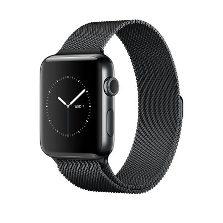 Apple Watch Series 2 Stainless Steel 38Mm  Space Black Stainless Steel Case With Space Black Milanese Loop Mnpe2ll A Smart