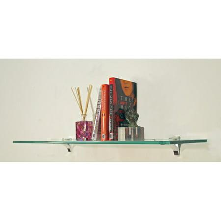 Spancraft Glass Floating Glass Bathroom Shelf