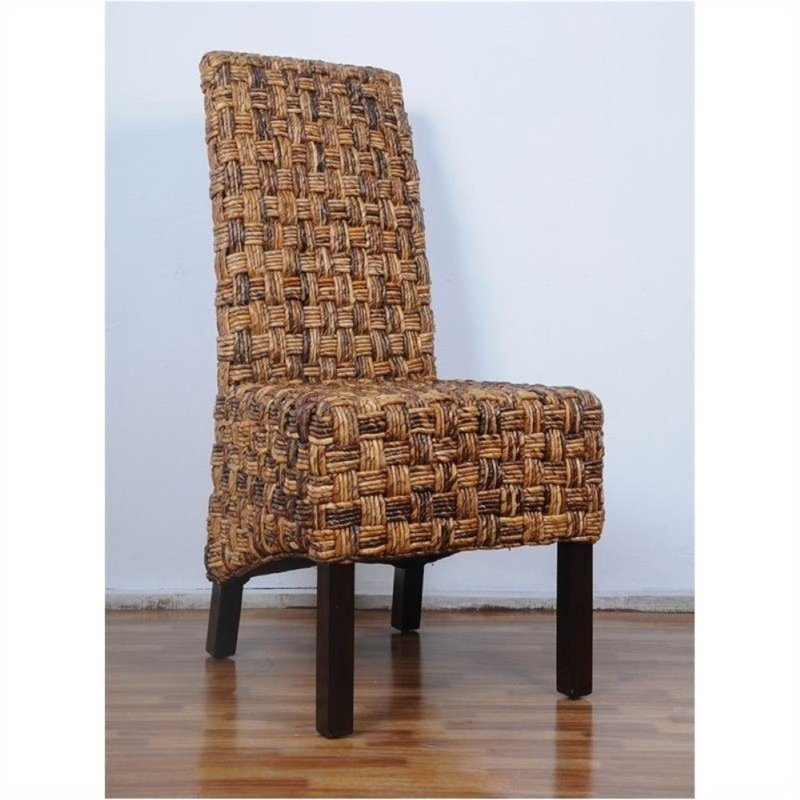 Bowery Hill Woven Abaca Dining Chair (Set of 2)