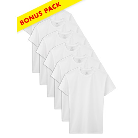 953456016 Fruit of the Loom - Boys' White Crew T Shirts, 5+1 Bonus Pack ...
