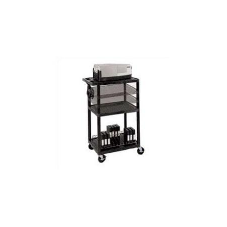 Luxor Multi-Height Open Shelf Table AV Cart