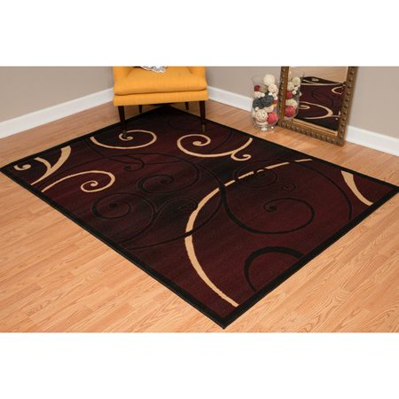Currant Red Area Rug (United Weavers Plaza Gigi Woven Olefin Area Rug )