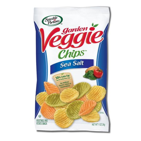 - 8 PACKS : Sensible Portions Garden Veggie Chips, Sea Salt, 1 Ounce