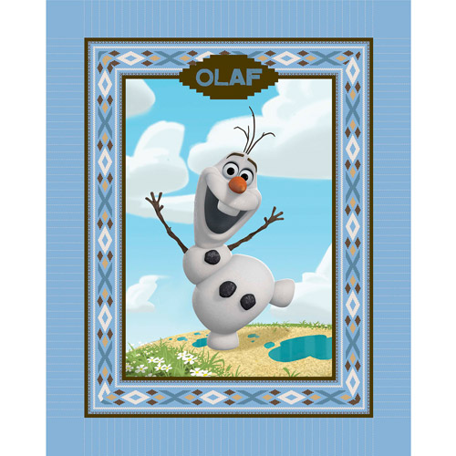 "Disney Frozen Olaf Alpine Wonder No-Sew Fleece Throw Kit, Brown, 48"" Wide"