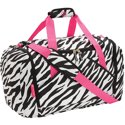 "Protege Fashion 21"" Zebra Design Duffel"