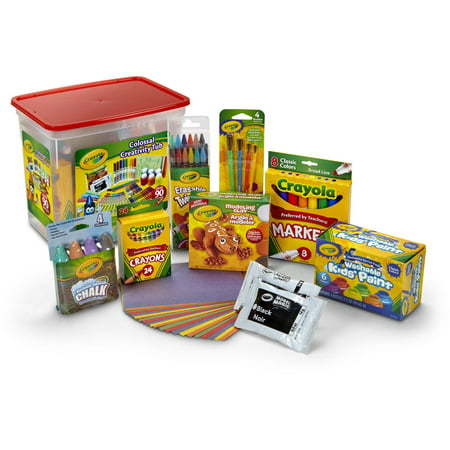 Crayola Colossal Creativity Tub, Art And Craft Supplies, Gift, 90 (Compact Art Kit Design)