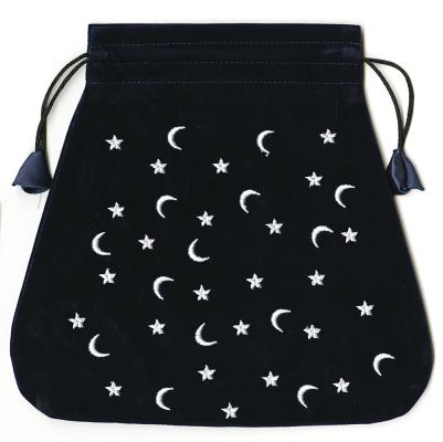 Bolsas de Lo Scarabeo Tarot Bags From Lo Scarabeo: Moon and Stars Velvet Lo Scarabeo Bag (Other)