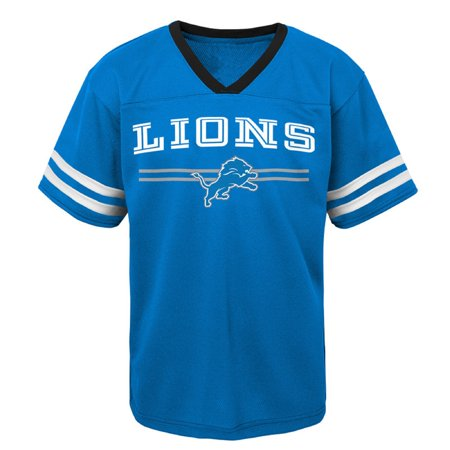 Youth Blue Detroit Lions Mesh V-Neck T-Shirt