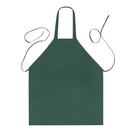 5 Tub Apron - Linteum Textile (2-Pack, 28x32 in, Green) KITCHEN CHEF BIB APRON, Commercial Grade for Restaurants & Home Use
