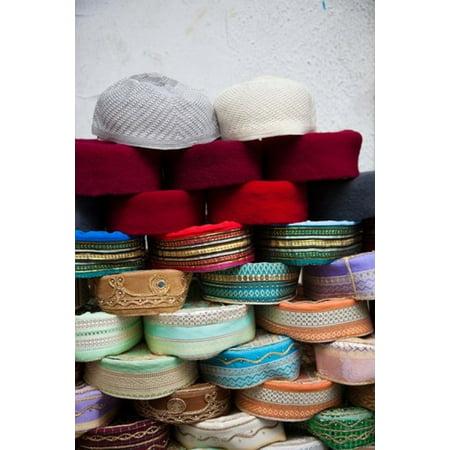 Tunisia Grand Souq des Chechias Market Fez hats Poster Print by Walter Bibikow (Cheap Fez Hats)