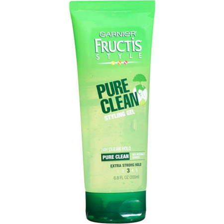 (2 Pack) Garnier Fructis Style Pure Clean Styling Gel, 6.8 oz (Black Silicon Gel)