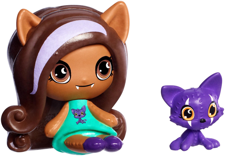 Monster High Minis Clawdeen Wolf & Crescent Figures by Mattel