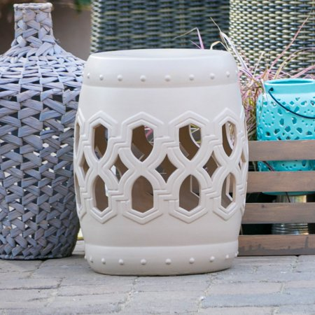 Brilliant Belham Living Santorini Ceramic Garden Stool Gmtry Best Dining Table And Chair Ideas Images Gmtryco