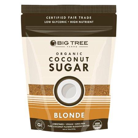 Big Tree Farms Coconut Palm Sugar - Blonde - Pack of 6 - 16 Oz.