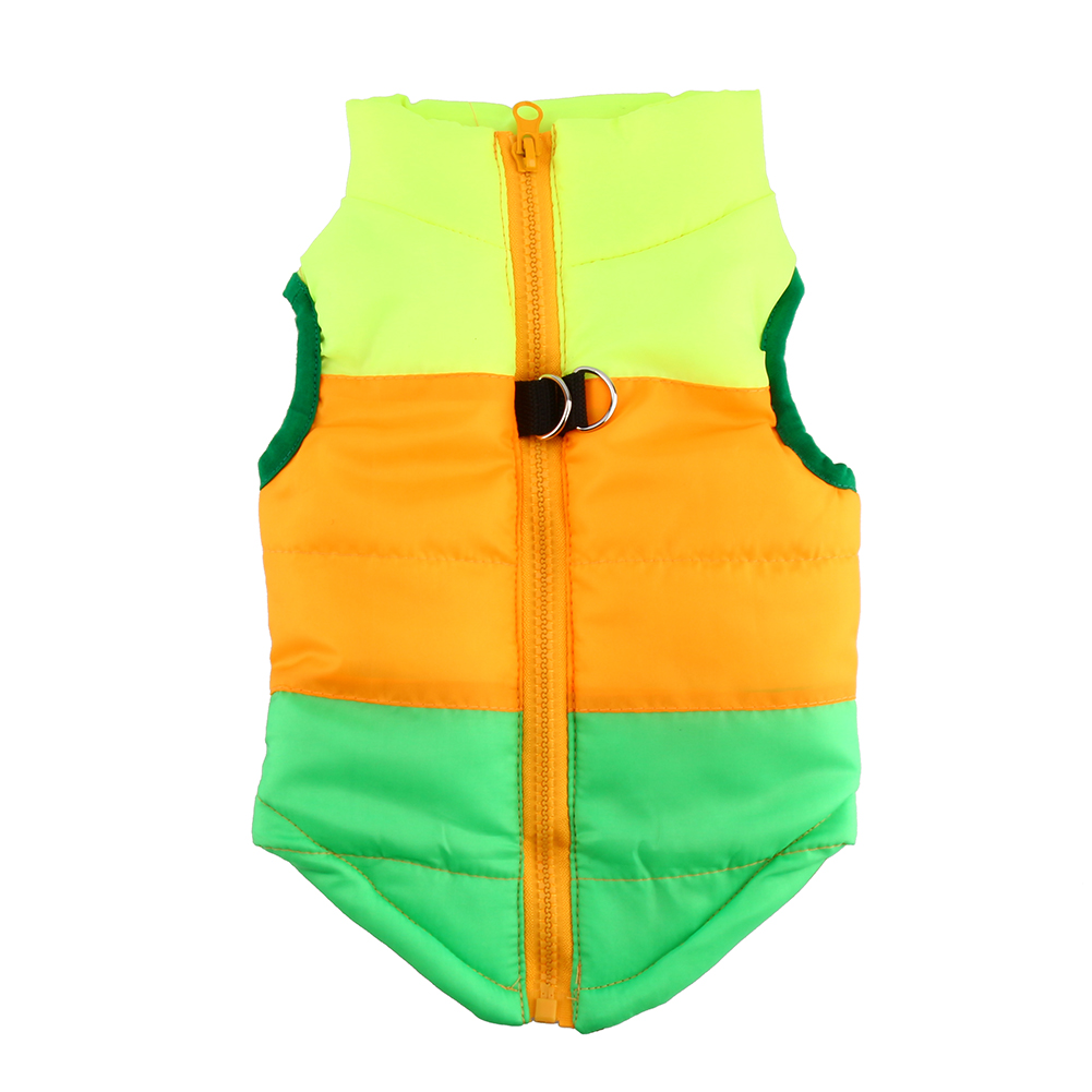 Yosoo Pet Cat Dog Patchwork Winter Fall Waterproof Vest Warm Cotton Jackets Puppy Costume