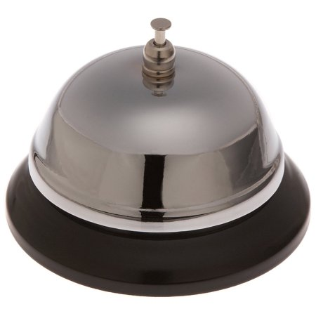 - 2987 Call Service Bell, Steel Nickel Plated, Steel construction for durability By Stanton Trading