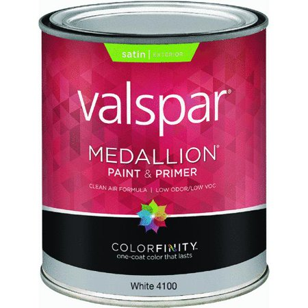 Valspar Medallion 100 Acrylic Paint Primer Satin Exterior House Paint