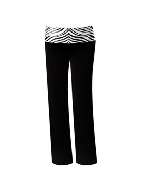 Pizzazz 9150ZG -BLKZEB-YXS 9150ZG Youth Roll-Down Waist Pants, Black with Zebra - Extra Small