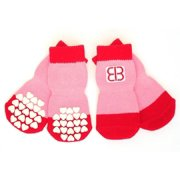 4 Pc Home Comfort Traction Control Pet Socks Set (Extra Small)