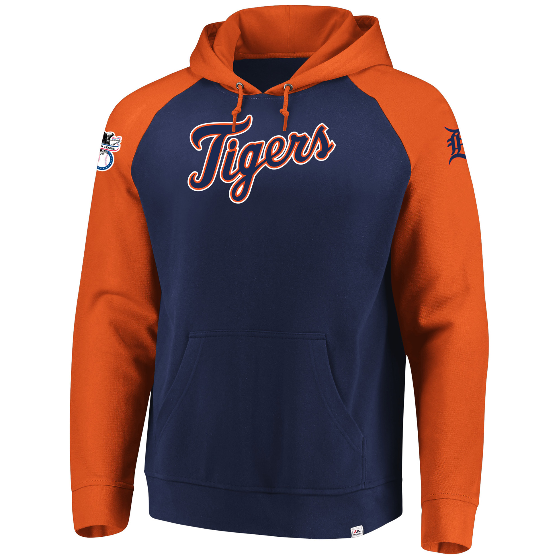 sports shoes ed989 39faf Detroit Tigers Majestic With Attitude Pullover Hoodie - Navy
