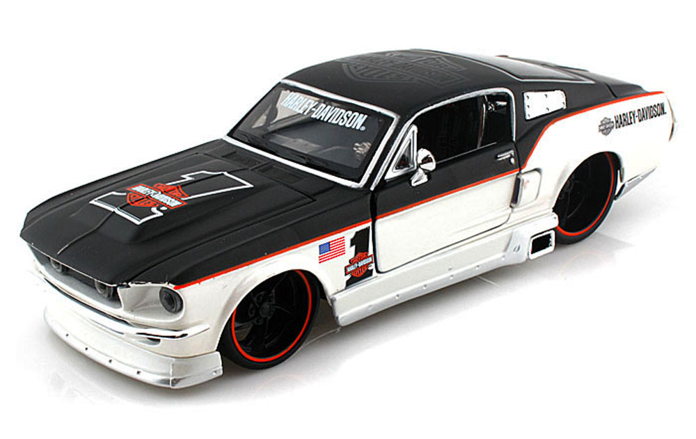 1967 Ford Mustang GT Harley-Davidson #1, Black & Pearl White Maisto HD 32168 1 24 Scale... by Maisto