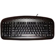 Victory Multimedia KBS-29BLK Left Handed Keyboard Wired Accs Usb Black By Ergoguys