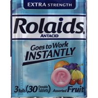 RolaidsExtra Strength Tablets, Fruit 3x10ct Rolls