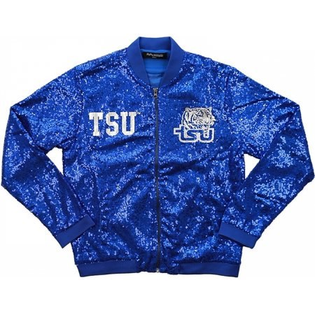 - Big Boy Tennessee State Tigers Ladies Sequins Jacket [Royal Blue - M]