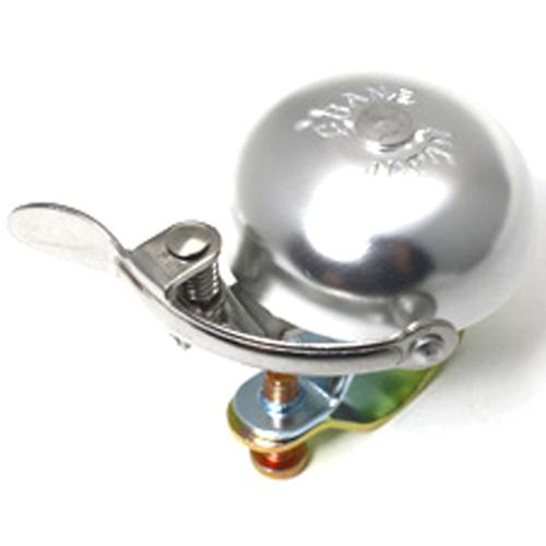 Crane Suzu Mini Lever Strike Bicycle Bell - Silver - 13204