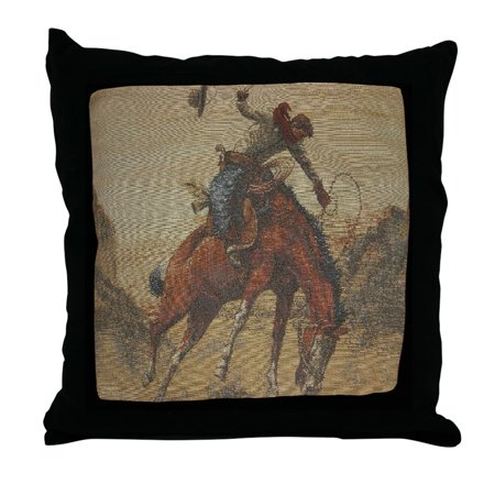 CafePress - TGY Western Style Throw Pillow Cowboy Horse& - Decor Throw Pillow (18