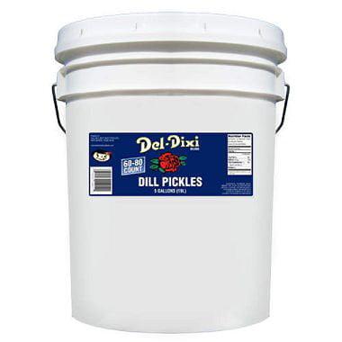 5 Gallon Bucket Food Grade - Del-Dixi Dill Pickles 5 Gallon Bucket
