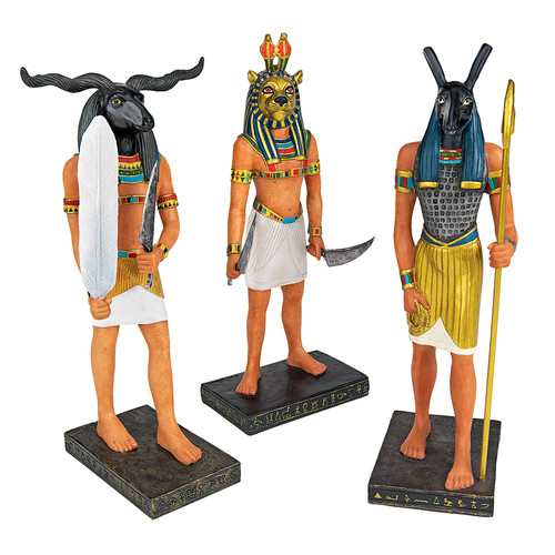 Design Toscano 3-Piece Ancient Egyptian God Figurine Set