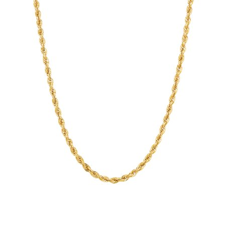 Women's 10KT Yellow Gold 2.9MM Rope Chain, 24