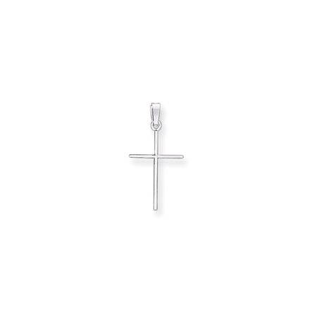 14k Gold White Gold Cross Charm Pendant (1.18 in x 0.55 - 14k White Gold Charm