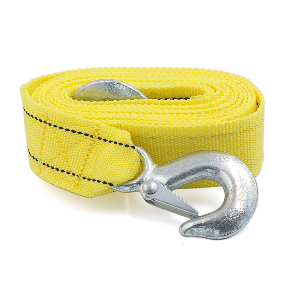 3 Tons 11.3ft Long Car Tow Rope Cable Towing Strap w 2 Hooks for Emergency