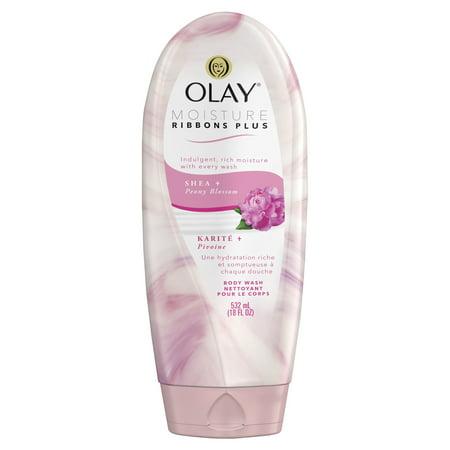 Olay Moisture Ribbons Plus Shea + Peony Blossom Body Wash, 18 oz