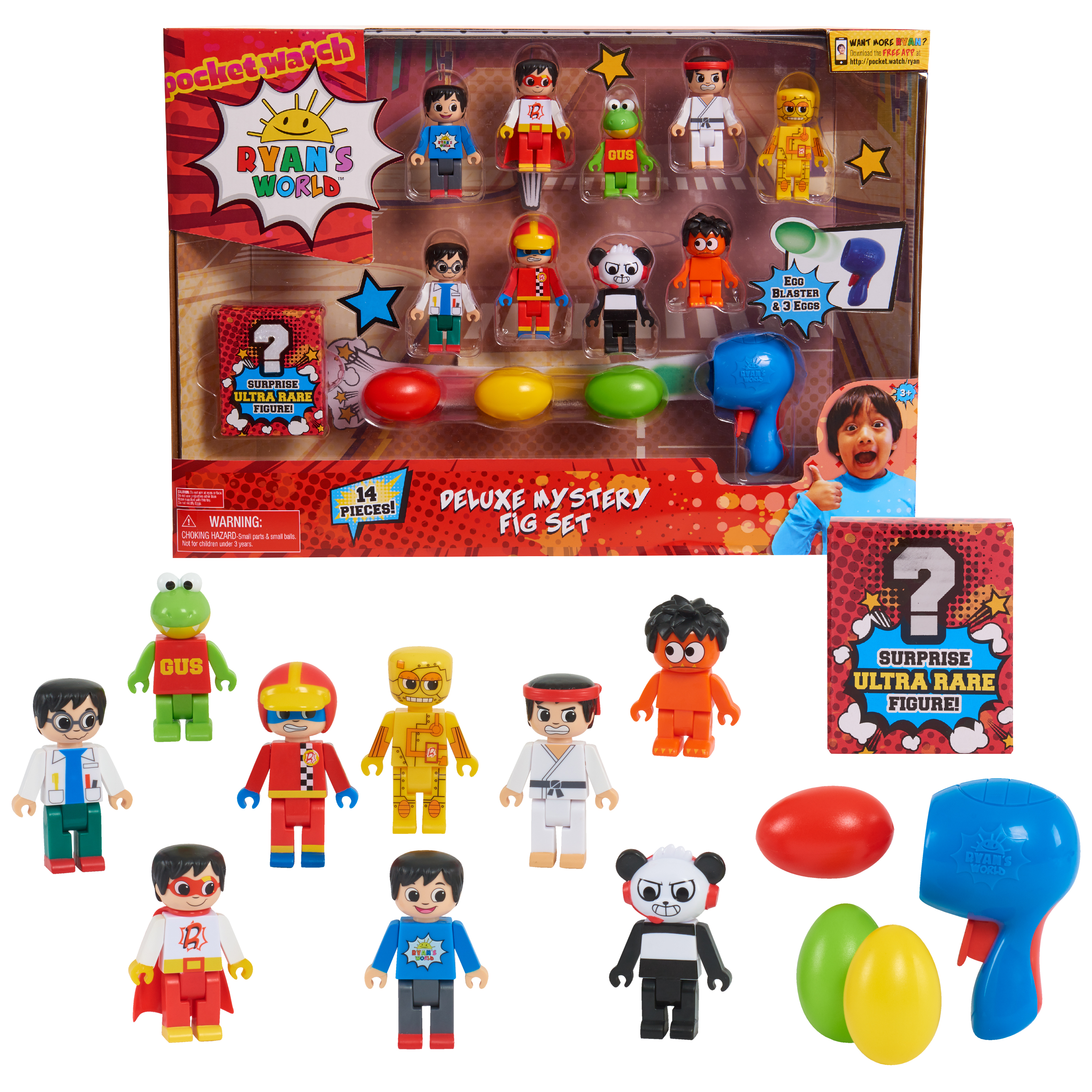 Ryan's World Mystery Figs, Ages 3 +