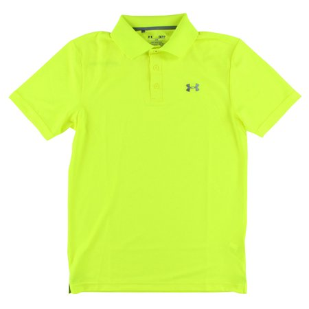 c4470e76b Under Armour Mens Performance Golf Polo Shirt Neon Yellow - Walmart.com
