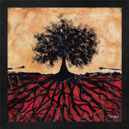 Metaverse R877029-0140000-AMAEAGOEDM 19.5 x 19.5 in. Tree with Roots I Framed Wall Art by Britt Hallowell - image 1 de 1