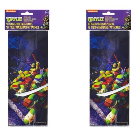 (2 Pack) Wilton Teenage Mutant Ninja Turtles Treat Bags, 16 - Ninja Sash