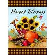 """Harvest Sunflowers Fall Garden Flag Autumn Yard Banner by Custom Decor 12"""" x 18"""""""