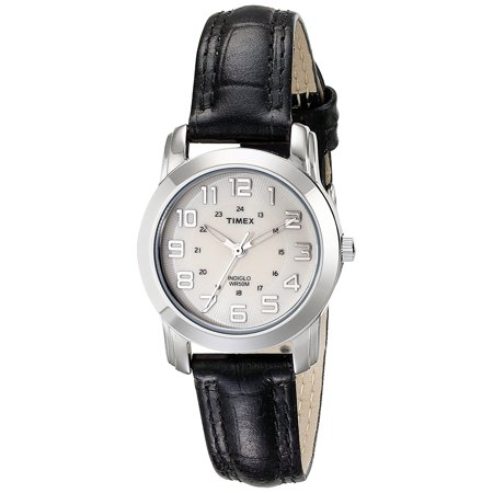 50m White Dial Watch (TIMEX Women's Analog 50m Quartz Brass Leather White Dial Watch T2N4359J )