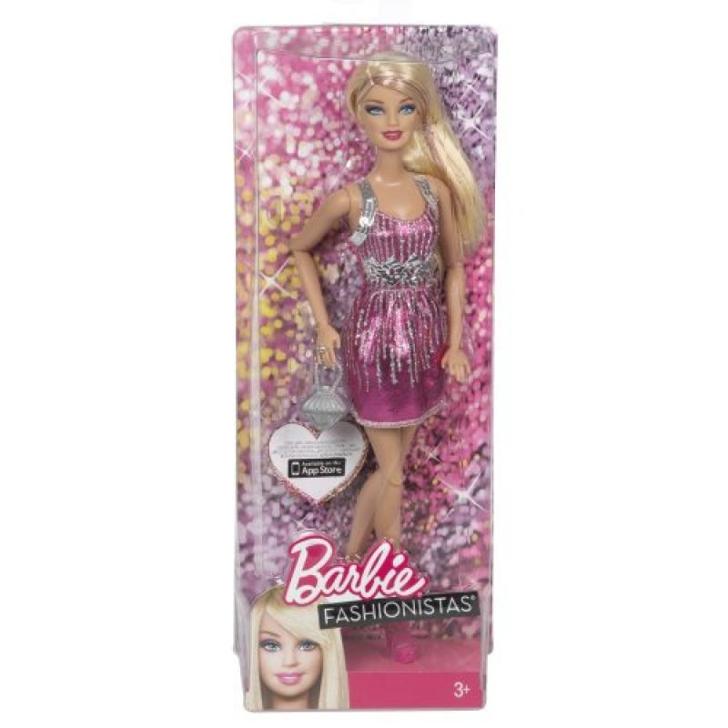 Barbie Fashionistas Barbie Doll - Pink and Silver Dress